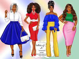 Sorority clipart Sisterhood clipart Afro girls clipart Girl | Etsy